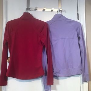 Sweaters - Two warm up zip sweaters XS
